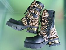New Rock Stiefel Gr. 38 Leo Muster  Schuh  M-373-R43