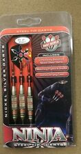 Dart World Ninja 23g Steel Tip Darts Nickel Silver 15865 w/ FREE Shipping