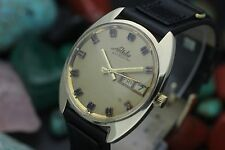 Vintage MIDO Astrostar Day Date Automatic 14K Solid Yellow Gold Mens Dress Watch