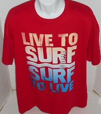 INK INC. Men's Red LIVE TO SURF Short Sleeve Tee Shirt Size XL