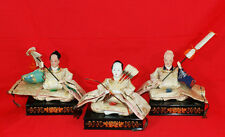 Dolls of the 3 attendant Samurai(Japanese noble clothes of 8-12 centuries)#1676