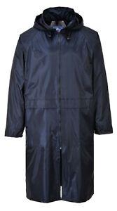 Portwest S438 Classic Adult Long Lightweight Waterproof Rain Coat Jacket
