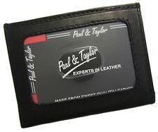 New Paul & Taylor ID Credit Card Thin Slim Front Pocket Wallet