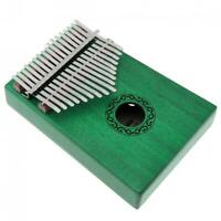 17 Key Green Kalimba Single Board Mahogany Thumb Piano Mbira Mini Musical