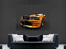 FORD Mustang CARICATORE AUTO USA RACING Immagine Grande Muro Poster Foto