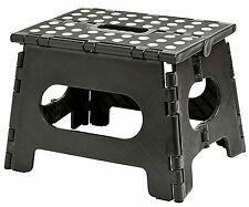 "Folding Step Stool 11"" Wide The lightweight step stool is sturdy enough to"