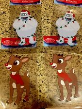 Rudolph The Red Nose Reindeer Window Clings Abominable Snow Monster Christmas