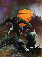 WOLFMAN Frank Frazetta Vintage Art 1965 Dracula Wolfman Full Moon Bats Haunted
