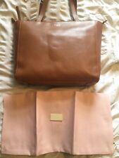 Radley Greyfriars Gardens Large Tan Leather Zip Top Tote Bag