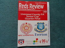 2012/13 - AFC LIVERPOOL v EVERTON - LIVERPOOL SENIOR CUP Q/F  Match Never Played