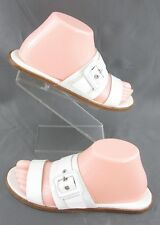 Cole Haan Grand.OS 'Amavia' Sandals Optic White Croc Size 7B $158.00 Worn Twice!