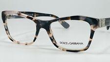 Dolce & Gabbana DG3273 Women's Plastic Eyeglass Frame 3120 Pearl Grey Havana