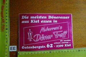 Alter Aufkleber Restaurant Imbiss MUHARREM'S DÖNER TREFF Stadt Kiel