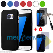Funda SAMSUNG GALAXY S7 EDGE Gel TPU Lisa Mate Colores +PROTECTOR CRISTAL OPCION