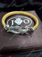 0.55 ct Round Sim Diamond Men's Bracelet in 14k White Gold Plated in 925 Silver
