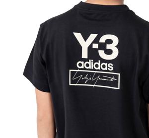 adidas Y-3 Stacked Logo Women's Short Sleeve Tee in Black size Medium $100