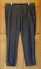 Calvin Klein Man's Size 38/30 Gray Pinstriped Dress Pants
