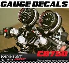 Honda CB750 Overlay Cafe Racer Gauge Face Decal Applique CB Overlays Speedometer