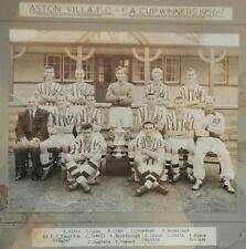 ASTON VILLA 1957 F.A.CUP FINAL TEAM PRESS PHOTO BY A.WILKES. VERY RARE EX-PLAYER