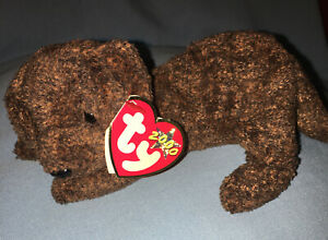 Ty Beanie Baby Fetcher Puppy 2000 With Tag PE Pellets