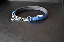 FERPLAST NYLON COLLAR WITH METAL CHAIN DOG LEAD MEDIUM SIZE 40CM