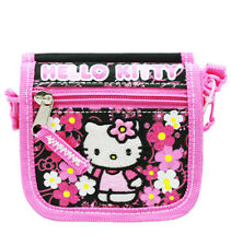Sanrio Hello Kitty Pink Kids String Purse Cross Shoulder Bag Wallet , New