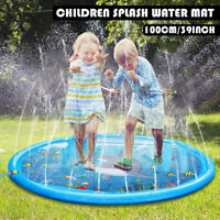 39'' Inflatable Spray Splash Water Mat Pad Kids Childs Outdoor Pool Beach Lawn