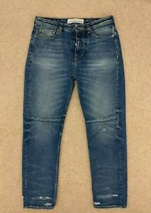Golden Goose women denim jeans trousers distressed crop mom style size 27