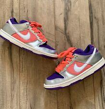 Nike Dunk Low Purple Pink Silver Sz 6 Women SB 6.0