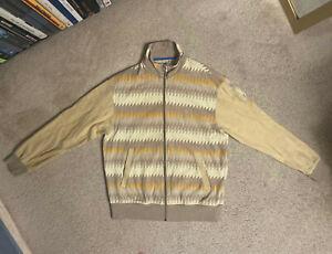Men's Nike BRS Jacket brown yellow FULL ZIP Blue Ribbon Sports Vintage LARGE