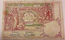 20 Francs 1920 20 Frank 1920 Billet Belgique Belgïe Belgium Banknote 01-1920