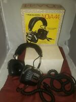 REALISTIC NOVA 44 4 Channel Stereo Headphones in Original Box - Tested/Working