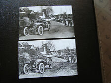 FRANCE --2cartes postales 1969 (reproduction) (automobile ancienne) cy36) french