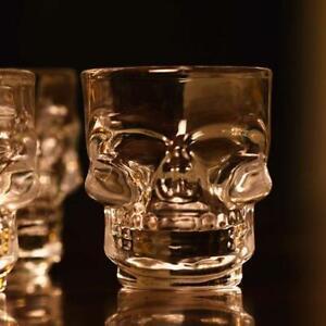 4 St. Skull Shot Gläser Schnapsglas Schnaps Kurzer Stamper Shots 50 ml