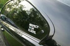 BMW Respect Your  Elders vinyl  Aufkleber Sticker decals side