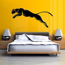Pantera Negra Puma Jaguar Gato Animal Salvaje Vinilo Pared Arte Adhesivo De Etiqueta