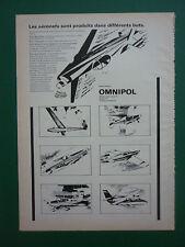 6/1975 PUB AERONEFS OMNIPOL PRAHA TCHECOSLOVAQUIE PLANEUR ORIGINAL AD