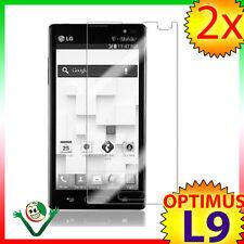 2X Pellicola protettiva display TRASPARENTE per nuovo LG Optimus L9 P760