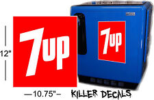 """(7UP 408) 12"""" 60'S STYLE 7UP COLA COOLERS SODA POP MACHINE"""