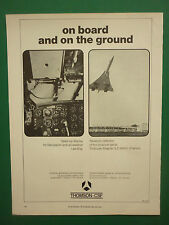 6/1970 PUB THOMSON-CSF AVIONIQUE CONCORDE HEAD-UP DISPLAY AIDE ATTERRISSAGE AD