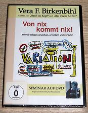Vera F. Birkenbihl - Von nix kommt nix! (2009) NEU !!! DVD, Selbsthilfe, Wissen