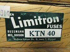 * NEW BOX OF 10 BUSSMANN LIMITRON FUSES  KTN 40    ........   VE-05
