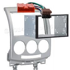 MAZDA 5 ab06 Radio Doppel 2 DIN Blende silber Einbau Schacht Rahmen Adapter ISO