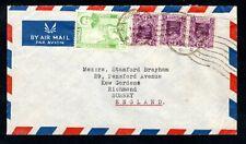 Burma - 1947/1950s KGVI Airmail Cover to England