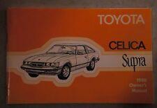 1980 TOYOTA CELICA SUPRA OWNERS MANUEL.
