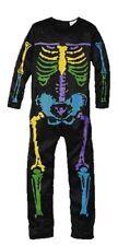 Halloween Fasching Karneval Skelettkostüm Overall Gr.S 116 (4-6 Jahre)