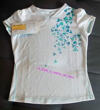 tee-shirt blanc crew neck lily lake girls polo kids Odlo fille T 140 10 a - neuf