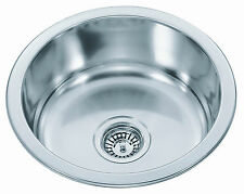 Stainless Steel Kitchen Sink - Round Bowl (42cm)