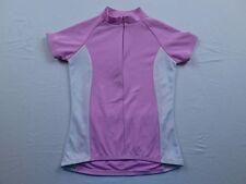 Womens Trek USA Pink White 1/2 Zip MTB Mountain Bike Race Cycling Jersey Sz S