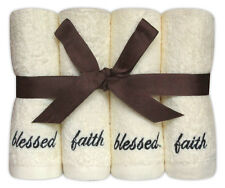 Personalised 8 Piece Face Cloth Gift Set 'Blessed' Embroidered Cotton Flannels